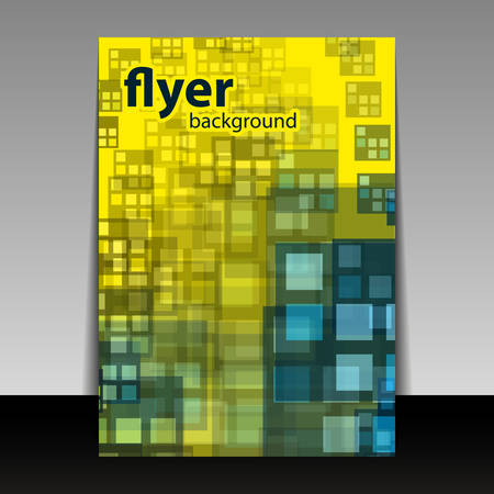 Flyer or Cover Design with Checkered Pattern Illustration