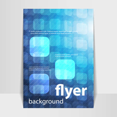 Flyer or Cover Design with 3D Abstract Checkered Background Vector