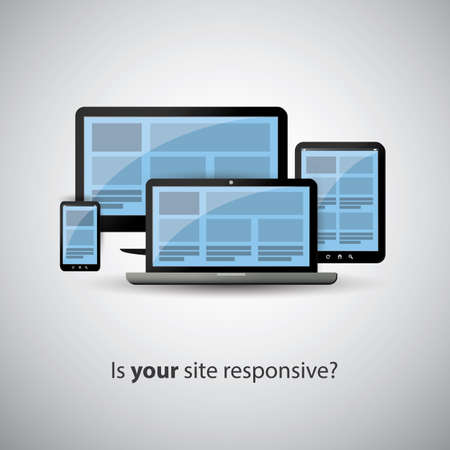 Responsive Web Design Concept - Is Your Site Responsive   Vector