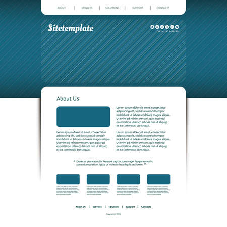 sripes: Website Template with Striped Header Design