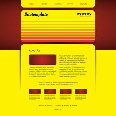 sripes: Website Template with Colorful Striped Header Design
