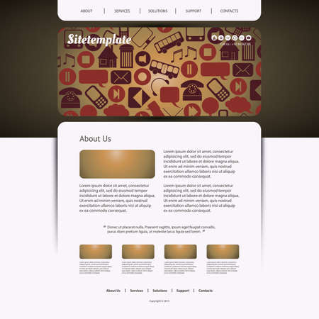 Website Design with Icons Pattern Vector