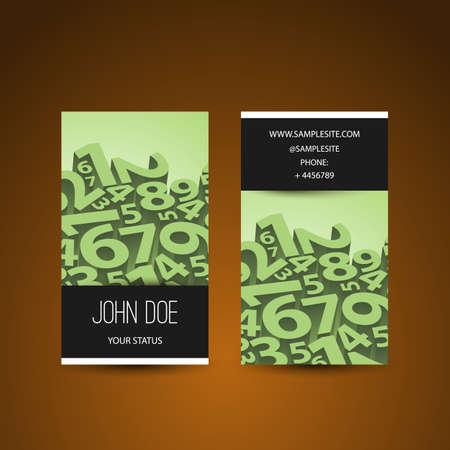 Ordinal: Business Card Design mit 3D-Zahlen
