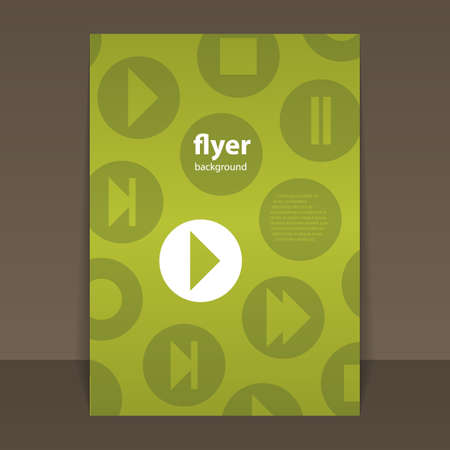 skip: Flyer or Cover Design with Music Related Icons Pattern Illustration