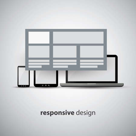 Responsive Web Design Concept - Same Website, Different Sizes Vector