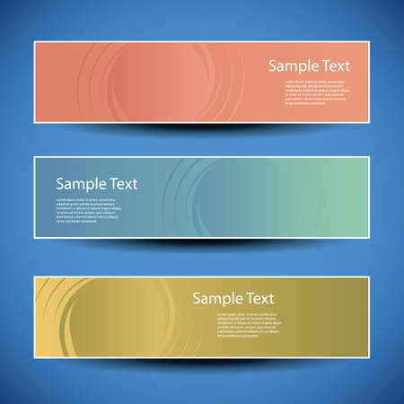 horizontal banner: Banner or Header Designs with Abstract Background