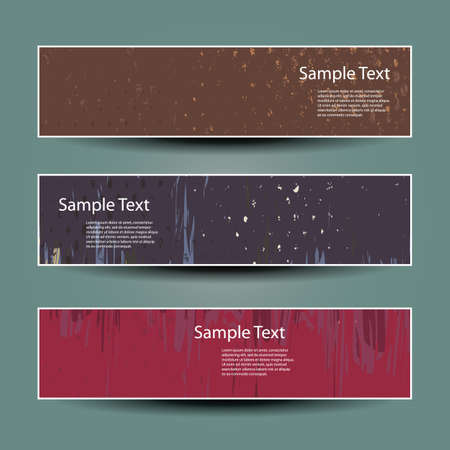 Banner or Header Designs with Grungy Pattern