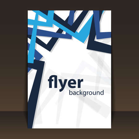 Flyer or Cover Design with Abstract Blue Frames Pattern