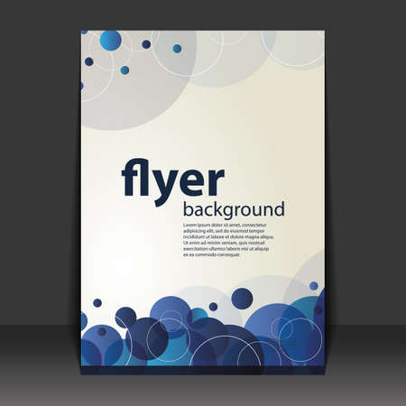 bubbly: Flyer or Cover Design - Bubbly Pattern Background Illustration