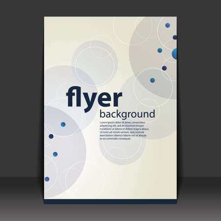 Flyer or Cover Design - Dotted Pattern Background