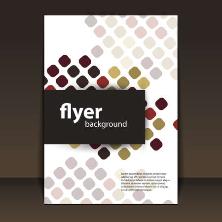 brochure cover: Flyer or Cover Design with Squares Pattern Background