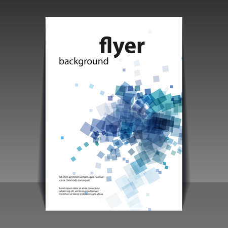 cover: Flyer or Cover Design with Blue Abstract Pattern