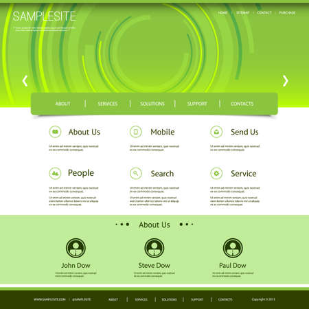 Website Design with Twisted Lines  Vector