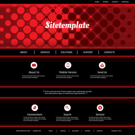 red abstract background: Website Template with Red Abstract Background