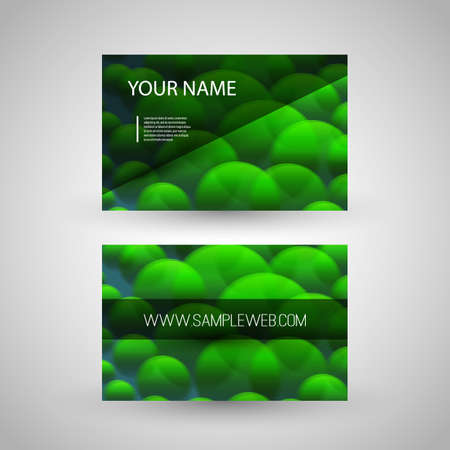 bubbly: Business Card Template with Abstract Bubbly Background Illustration