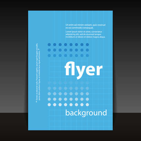 pamphlet: Flyer or Cover Design with Dotted Pattern