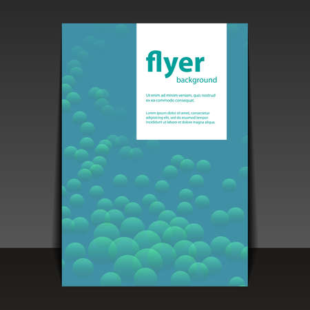 bubbly: Flyer or Cover Template with Abstract Bubbly Background