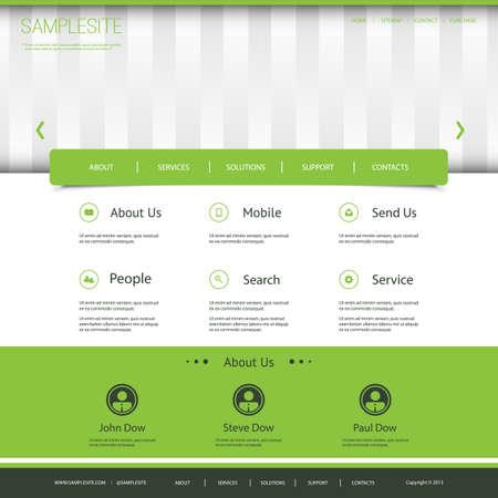 sidebar: Website Template with Striped Header Design