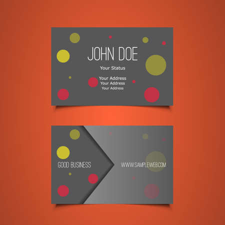 Business Card Template with Abstract Circles Background Vector