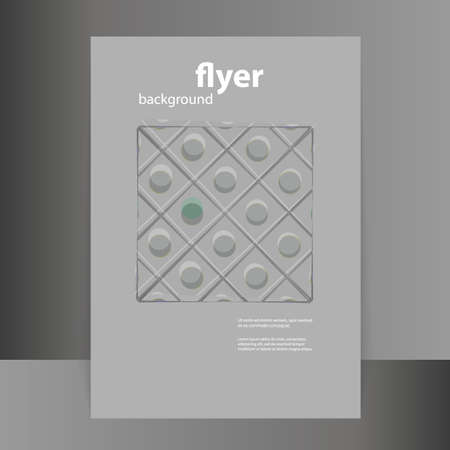 grey pattern: Flyer or Cover Design with Abstract Grey Pattern