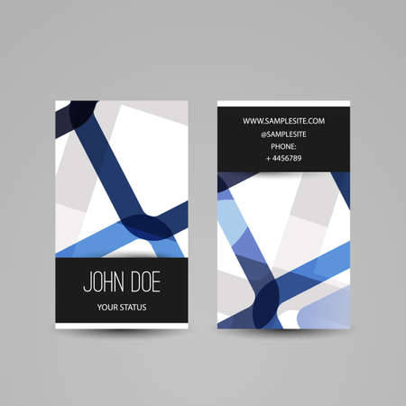 dev: Business Card with Abstract Pattern
