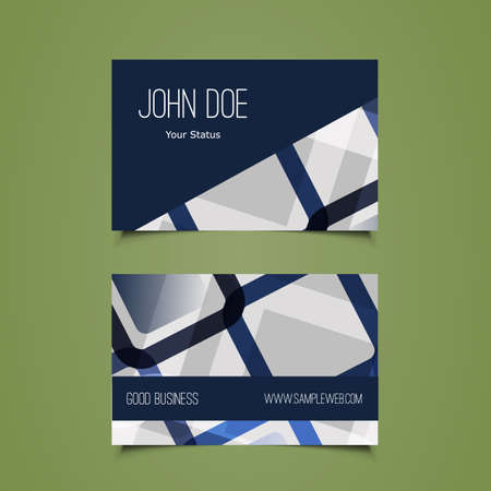 dev: Business Card Template with Abstract Background
