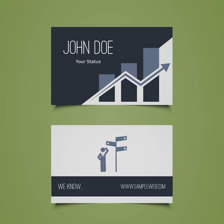 finacial: Business Card Template - Corporate Identity Design