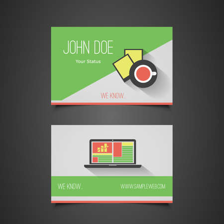 Business Card Template - Corporate Identity Design  Vector