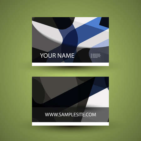 Business Card with Abstract Pattern Vector