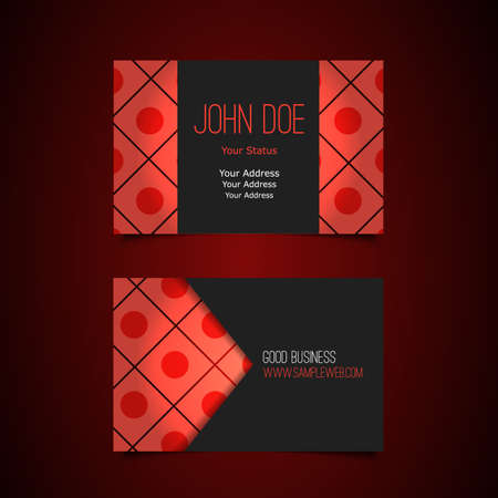 Business Card Template with Abstract Background Vector