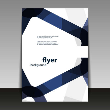 dark blue: Flyer or Cover Design with Abstract Pattern