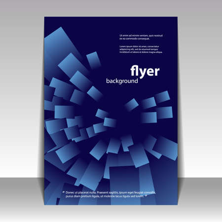fantasy book: Flyer or Cover Design with Blue Abstract Pattern