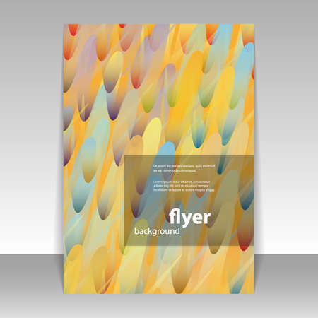 Flyer or Cover Design with Colorful Abstract Pattern Illustration