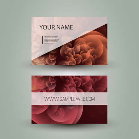 Business Card Template with Abstract Colorful Design Vector