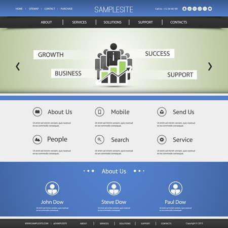 Business Website Template Design - Growth, Business, Support, Success