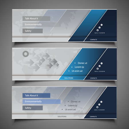 Web Design Elements - Header Designs Vector