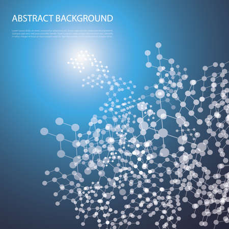 Abstract Background - Network Design for Your Business Vector