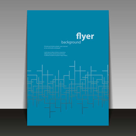 net book: Flyer or Cover Design with Blue Abstract Pattern