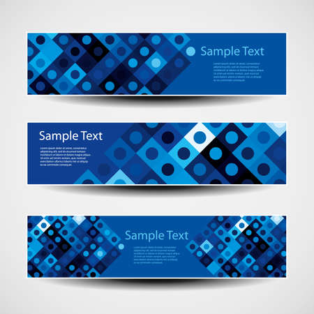 horizontal banner: Banner or Header Design with Abstract Blue Pattern