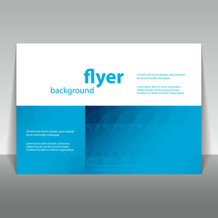 pamphlet: Flyer or Cover Design with Abstract Pattern