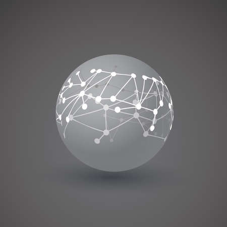 Networks, Connections - Globe Design Vector
