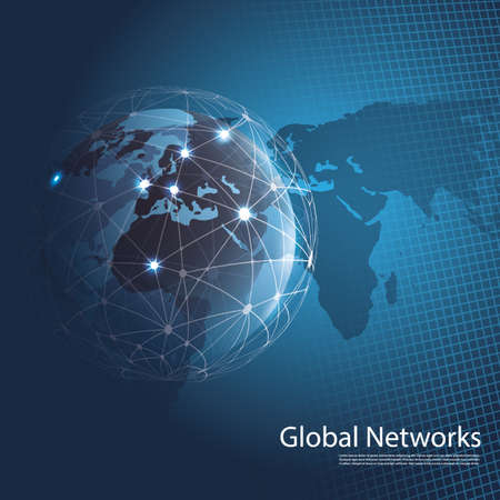 worldwide web: Global Networks - EPS10 Vector for Your Business Illustration