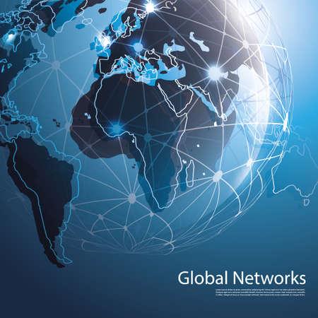 globális üzleti: Global Networks - EPS10 Vektor for Your Business