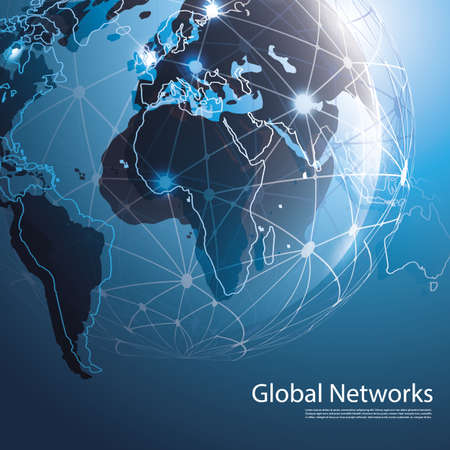 wired: Global Networks - EPS10 Vector for Your Business Illustration