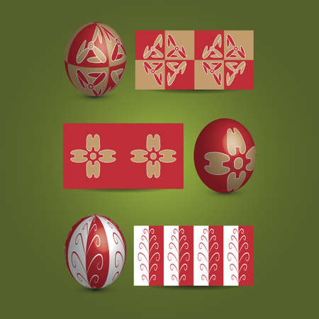 Easter Eggs and Ornamental Patterns Vector