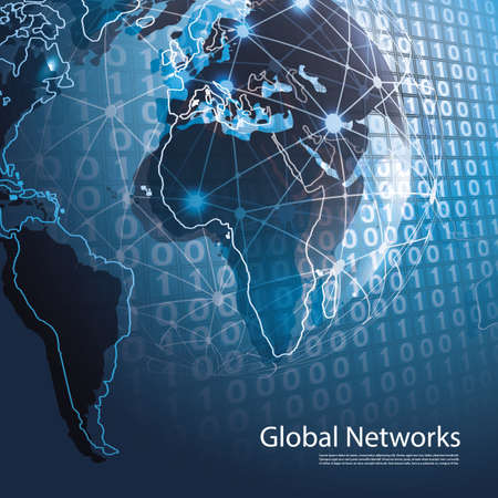 Global Networks - Vector for Your Business Фото со стока - 27144694