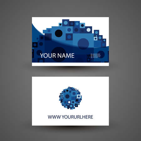 curved lines: Business or Gift Card Design with Abstract Background Illustration
