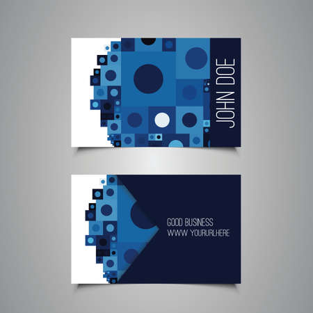 Business or Gift Card Design with Abstract Background Vector