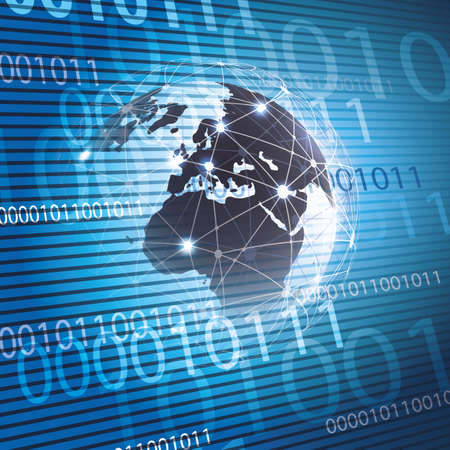 Redes Globales - EPS10 vector para su negocio Ilustración de vector