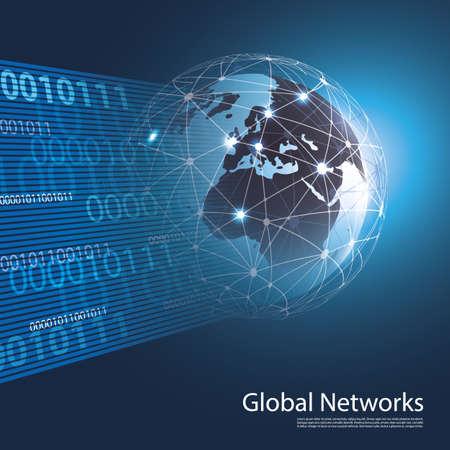 Réseaux mondiaux - EPS10 vecteur pour votre entreprise Banque d'images - 27712381